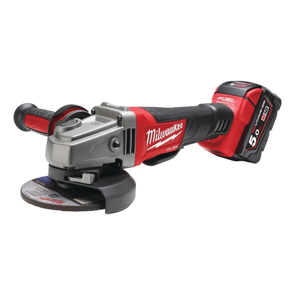 Aku úhlová bruska 125 mm Milwaukee M18 CAG125XPD-502X (5,0 Ah).